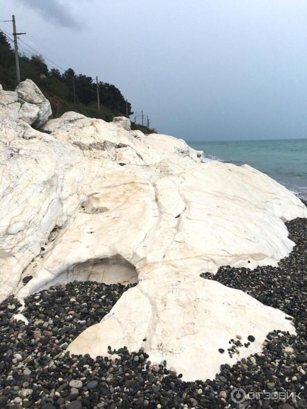 пляж белые скалы абхазия фото доме пусть день